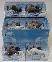 Lontic Artic Wild Animals Display 2 each 6 different Plastic Model Animals 1/32 Scale #95322