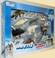 Lontic Artic Wild Animals (12 different) Plastic Model Animals 1/32 Scale #95402