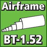 LOC Airframe Tubing 1.52 inch Model Rocket Body Tube #bt-152