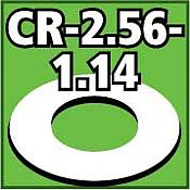 LOC Precision Cent. Ring 1/8 thk. 2.56od - 1.14id inch (2) -- Model Rocket Building Accessory -- #cr256114