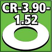 LOC Precision Cent. Ring 1/8 thk. 3.90od - 1.52id inch (2) -- Model Rocket Building Accessory -- #cr390152
