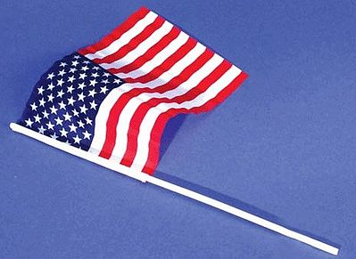 Loftus International US Flag Small 6''x9'' nylon (6/pk) -- Miniature Flags -- #1445