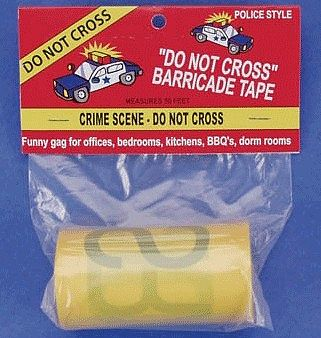 Loftus International Crime Scene - Do Not Cross Barricade Prank Tape -- Novelty Toy -- #37