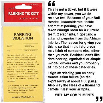 Loftus International Parking Tickets (25) Prank -- Novelty Toy -- #7