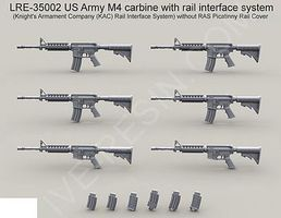 Live-Resin 1/35 US Army M4 Carbine Machine Gun w/Rail Interface System (6)