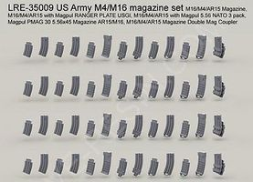 Live-Resin 1/35 US Army M4/M16/AR15 Gun Magazine Set (6 diff. 52pcs total)
