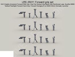 Live-Resin 1/35 Forward Gun Grip Set (4 each of 5 diff)