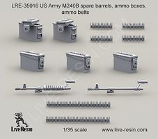 Live-Resin 1/35 US Army M240B Spare Barrels, Ammo Boxes/Belts
