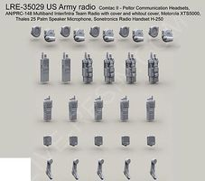Live-Resin 1/35 US Army Radio Set (5 each of 5 diff)