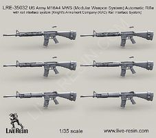 Live-Resin 1/35 US Army M16A4 MWS Automatic Rifle (6)