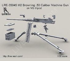 Live-Resin 1/35 M2 Browning .50cal Machine Gun on M3 Tripod