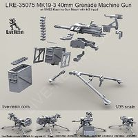 Live-Resin 1/35 Mk 19-3 40mm Grenade Machine Gun on Mk 93 Mount w/M3 Tripod