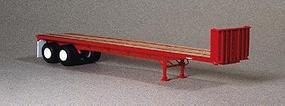Lonestar 40' Trailmobile Flatbed Trailer Kit (Standard Red) HO Scale Model Trailer #5000