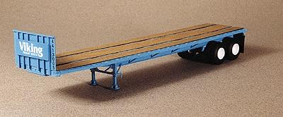 Lonestar 40 Trailmobile Flatbed Trailer Viking Freight Kit (Blue) HO Scale Model Trailer #5015