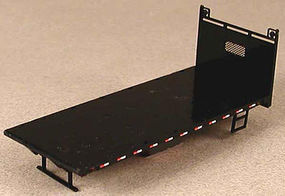 Lonestar 20' Lumber Truck Flat Bed Kit (Black) HO Scale Model Trailer #5210