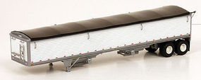 Lonestar Wilson 43' Pacesetter Grain Trailer Kit (white) HO Scale Model Trailer #6001