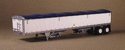 Wilson 43 Grain Trailer Kit Black Tarp Ho Scale Model