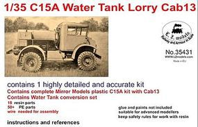 LZ C15A Cab 13 Water Tank Lorry Truck Plastic Model Military Truck Kit 1/35 Scale #35431