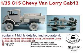 LZ C15 Cab 13 Chevy Van Lorry Flatbed Truck Plastic Model Military Vehicle 1/35 Scale #35432