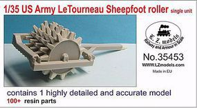 LZ 1/35 US Army Letourneau Sheepfoot Roller Single Unit for MNA & LZM (Resin)