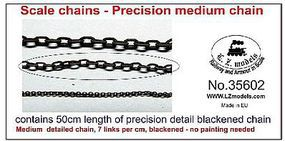 LZ 50cm Medium Blackened Detail Chain 7 Links per cm