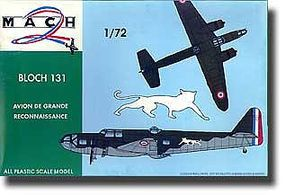 Mach2 Bloch 131 WWII French Medium Bomber Plastic Model Airplane Kit 1/72 Scale #14