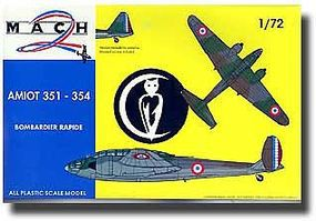 Mach2 Amiot 351/354 WWII French Medium Bomber Plastic Model Airplane Kit 1/72 Scale #15