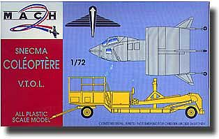 Mach 2 Models Snecma Coleoptere French VTOL Rocket -- Plastic Model Airplane Kit -- 1/72 Scale -- #20
