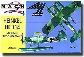 Mach2 He114 German Recon Seaplane Plastic Model Airplane Kit 1/72 Scale #22