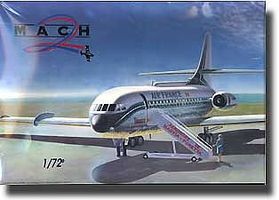 Mach2 SE210 Caravelle UAL/AF/Air International Airliner Plastic Model Airplane Kit 1/72 #23