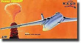 Mach2 Vickers Valiant British Atomic Bomber Plastic Model Airplane Kit 1/72 Scale #36