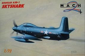 Mach2 A2D1 Skyshark USN Monoplane Plastic Model Airplane Kit 1/72 Scale #37