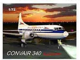 Mach2 Convair 340 Pug Nose Aircraft Plastic Model Airplane Kit 1/72 Scale #52