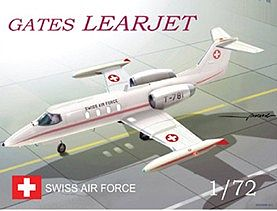 Mach 2 Models Gates Learjet Swiss AF Aircraft -- Plastic Model Airplane Kit -- 1/72 Scale -- #58