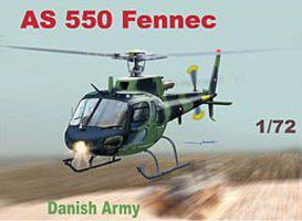 Mach2 AS550 Fennec Danish Army Helicopter Plastic Model Helicopter Kit 1/72 Scale #61
