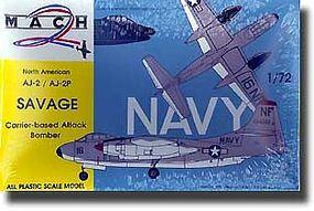 Mach2 AJ2/AJ2P Savage Carrier-Based Attack Bomber Plastic Model Airplane Kit 1/72 Scale #6
