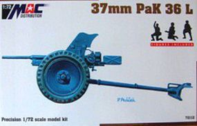 Mach2 1/72 37mm Pak 38L Gun w/3 Figures & Resin Parts