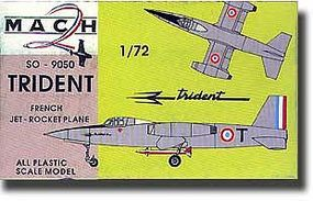 Mach2 Trident SO9050 French Jet Plastic Model Airplane Kit 1/72 Scale #9
