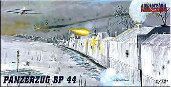 Mach2 Panzerzug BP44 Military Railway Convoy Plastic Model Locomotive Kit 1/72 Scale #ar2