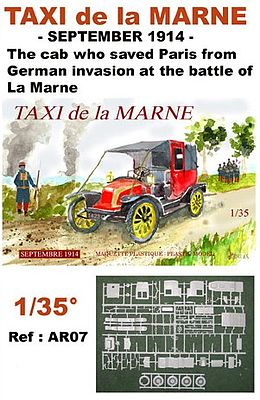 taxi de la marne september 1914 plastic model military vehicle kit 1 35 scale ar7 by mach2 ar7. Black Bedroom Furniture Sets. Home Design Ideas