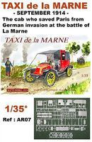 Mach2 Taxi de la Marne September 1914 Plastic Model Military Vehicle Kit 1/35 Scale #ar7