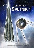 Mach2 Semiorka Sputnik 1 Orbiting Satellite Rocket Space Program Plastic Model Kit 1/72 #lo11