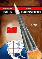Mach2 SS6 Sapwood Russian Nuclear Ballistic Missle Space Program Plastic Model Kit 1/72 #lo15