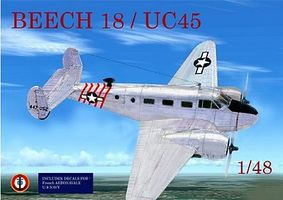 Mach2 Beechcraft 18/UC45 Twin-Engine Aircraft Plastic Model Airplane Kit 1/48 Scale #ls1