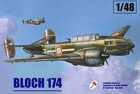 Mach2 Bloch 174 French Recon Bomber 1940 Plastic Model Airplane Kit 1/48 Scale #ls2