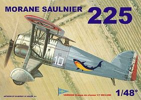 Mach2 Morane Saulnier 225 BiPlane Fighter Plastic Model Airplane Kit 1/48 Scale #ls3