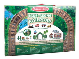 MandD Take Along Tableotp Wooden Railroad
