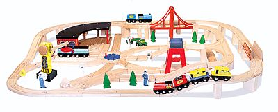Mellissa & Doug Wooden Railway Set