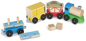MandD Wooden Cargo Train Set
