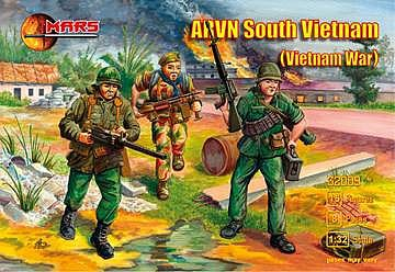Mars Figure Sets 1/32 Vietnam War AVRN South Vietnamese Army (15)